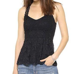Nanette Lepore   Conga Black Crochet Lace Tank
